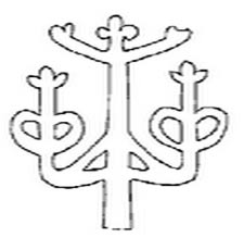 An outline of the Paracas Candelabra