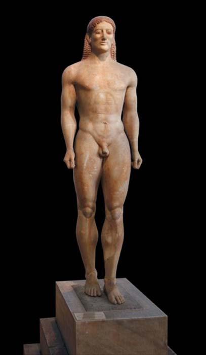 Anavysos Kouros, c. 530 BC.
