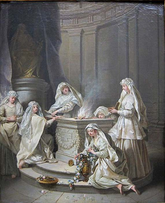 Ancient virgins by Jean Raoux  (1727) Palais des Beaux-Arts in Lille (Public Domain)