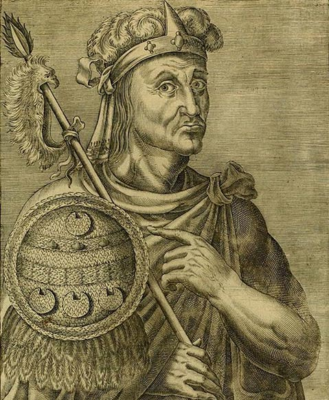André Thévet's representation of Motecuhzoma II Xocoyotzin. (1584)