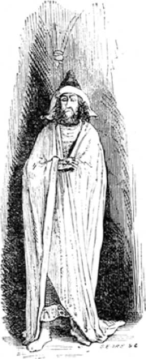 Angakkuq as depicted in the Dictionnaire Infernal, 1863 edition. (Public Domain).