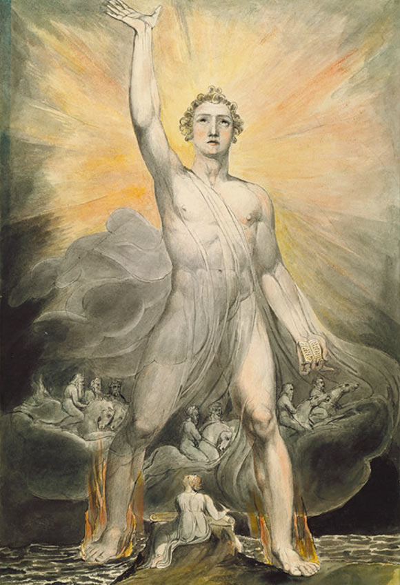 Many Gods, or God and his heavenly court? 'Angel of the Revelation' by William Blake