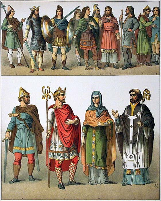 Anglo-Saxon society and clothing, 500-1000 AD. (Public Domain)