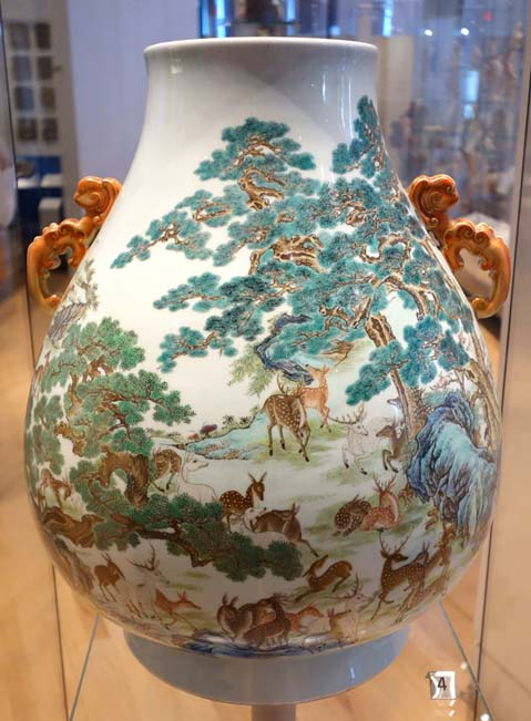 Another example of Qainlong porcelain is The Vase of a Hundred Deer at Royal Ontario Mueum. (CC0)