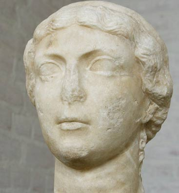 Bust of Antonia Hybrida Minor, Mark Antony's first wife