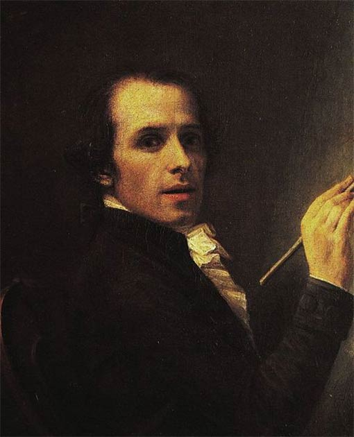 Antonio Canova self portrait, 1790. (Public Domain)