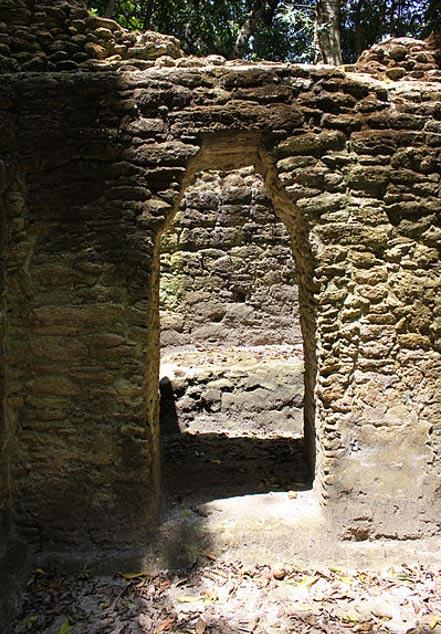 Archway at Plaza Jobo in El Pilar (Belize side).