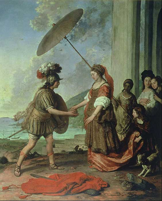 'Ariadne and Theseus' (1657) by Willem Strijcker.