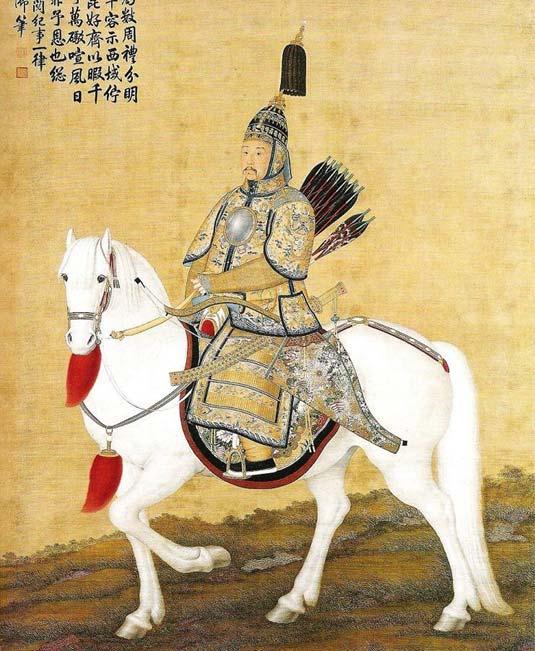 Armored Kangxi Emperor (Public Domain)