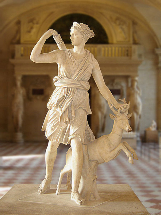 "Artemis, better known as ""Diana of Versailles."""