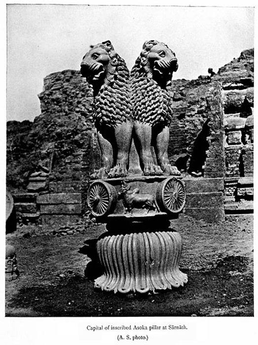 Ashoka lions at Sarnath, 1911.
