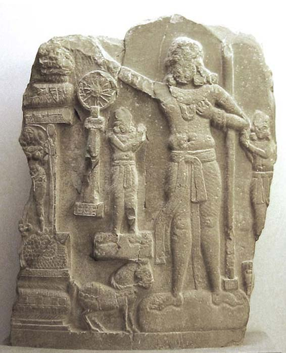Ashoka, the Mauryan Emperor, 1st century BC/AD, Indian relief. (CC BY SA 3.0)