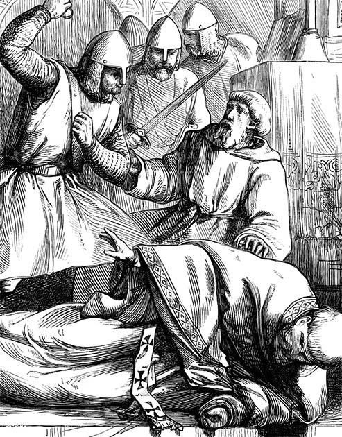 The Assassination of Thomas Becket. (Tony Baggett / Adobe Stock)