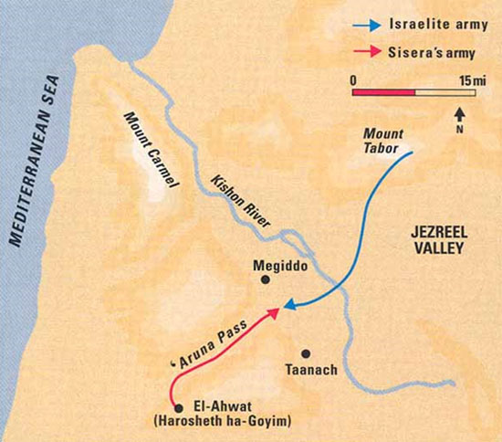 "A momentous confrontation. ""At Taanach, by Megiddo's waters"