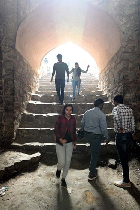 At the bottom of the stairs of Agrasen ki baoli. (Ray_LAC / CC BY-SA 4.0)