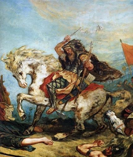 Attila the Hun by Eugene Delacroix
