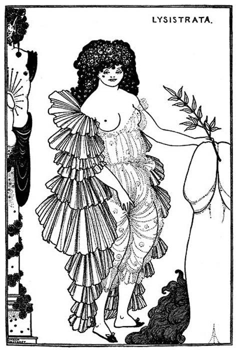 Aubrey Beardsley: Aristophanes Lysistrata, 1896