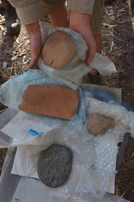 Axes and grinding stones from the Pleistocene found in the excavations. Credit: Dominic O Brien/Gundjeihmi Aboriginal Corporation