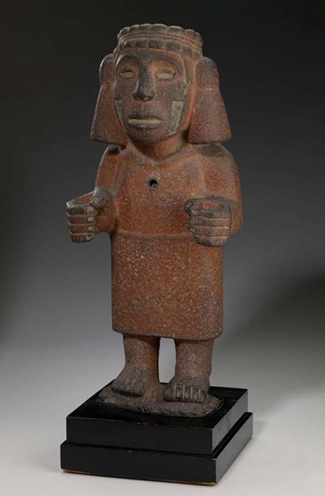 Aztec Deity - Chalchiuhtlicue is associated with fertility and is the patroness of childbirth.  (Curator Minneapolis Institute of Arts / Public Domain)
