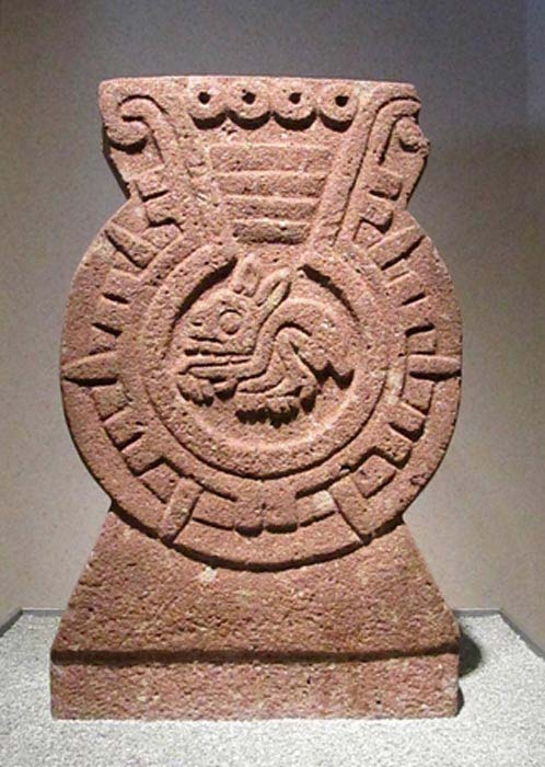 Aztec carving of a rabbit. Anthropological Museum of Mexico City.
