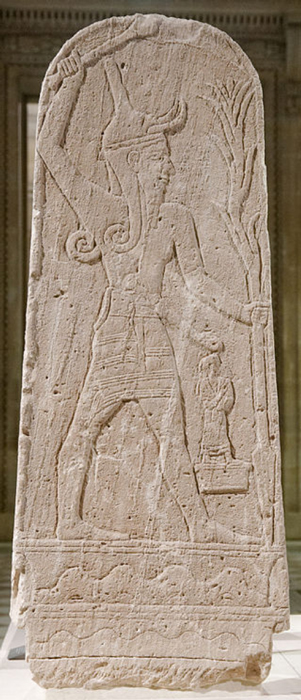 Ba'al with Thunderbolt or the Ba'al stele. (Public Domain)