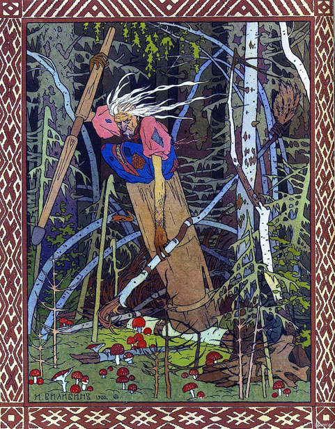 Baba Yaga as depicted by Ivan Bilibin. (Bilibin / Public Domain)