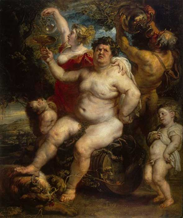 Bacchus, Roman god of agriculture, wine and fertility by Peter Pau l Rubens. (Public Domain)