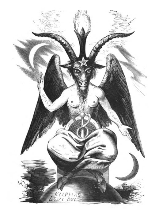 Baphomet, also known as the Sabbatic Goat, 'Dogme et Rituel de la Haute Magie.' (Public Domain)