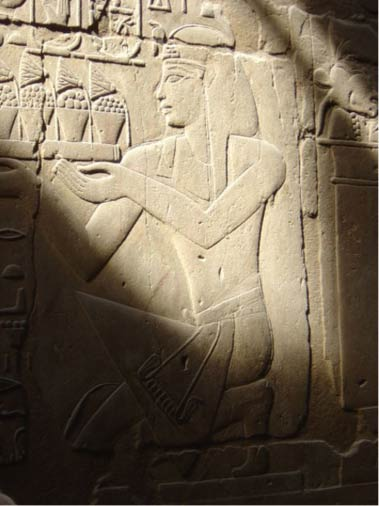 Bas-relief of Amenhotep III at Luxor