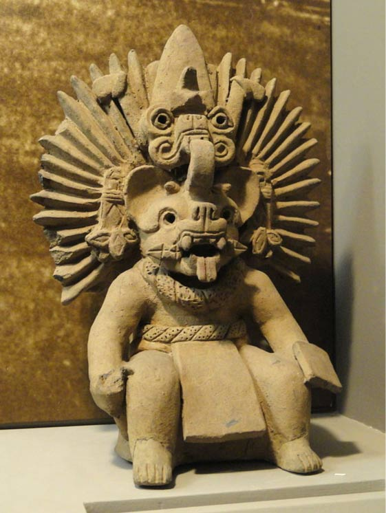 Mesoamerican sculpture, said to be a Bat God of the Zapotec religion