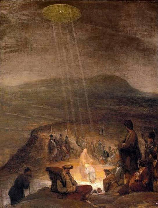 UFOs in art: Battesimo di Cristo, 1710; Fitzwilliam Museum, Cambridge