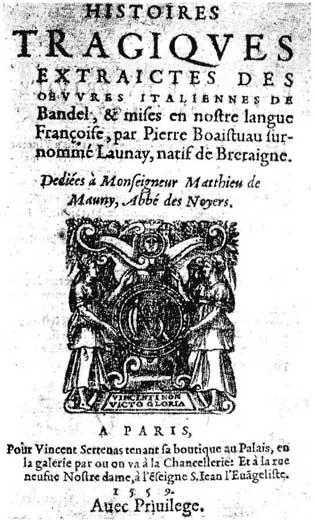 Belleforest's Histoires Tragiques de Bandel (Public Domain)