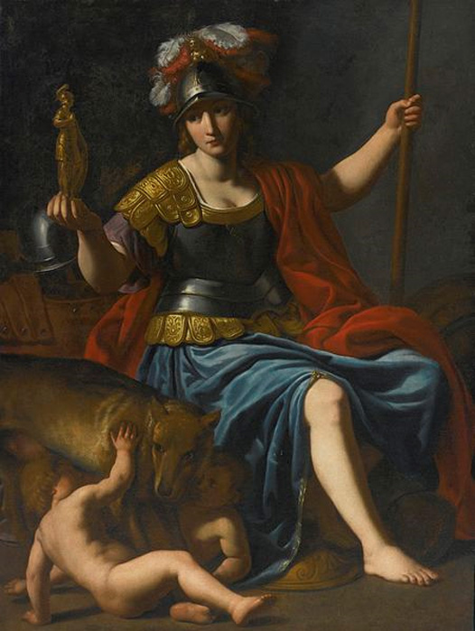 Bellona with Romulus and Remus by Alessandro Turchi. (Public Domain)