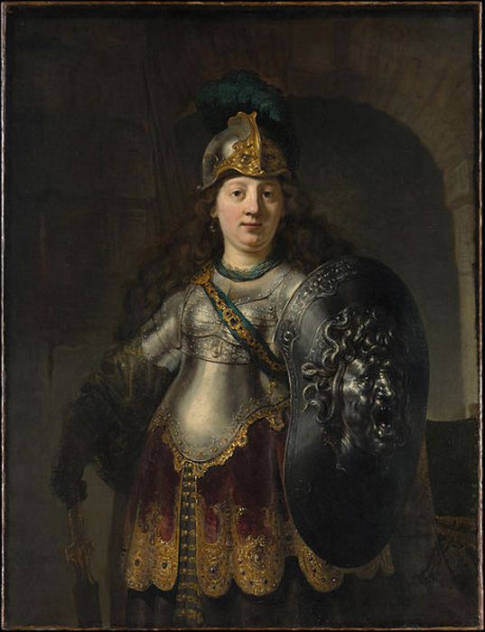'Bellona' (1633) by Rembrandt. (Public Domain)