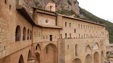 Benedictine Monastery of San Benedetto da Norcia, in the town of Subiaco (Public Domain)