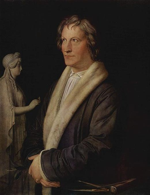 Portrait of Bertel Thorvaldsen by Carl Joseph Begas, ca. 1820.
