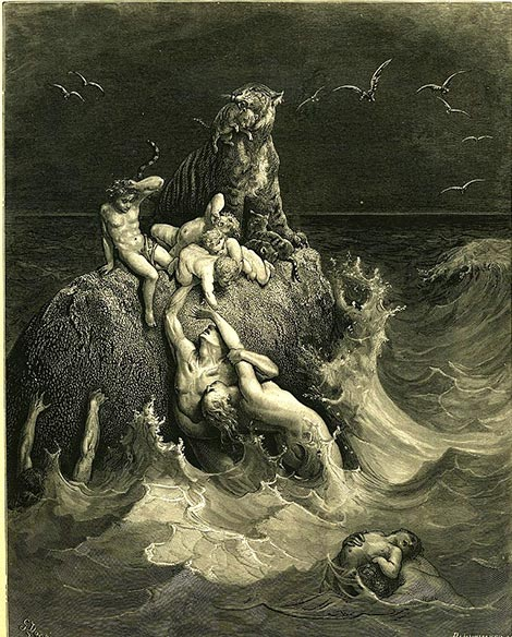 The Bible hints to the destruction of the giants via the flood. (Mike.lifeguard / Public Domain)