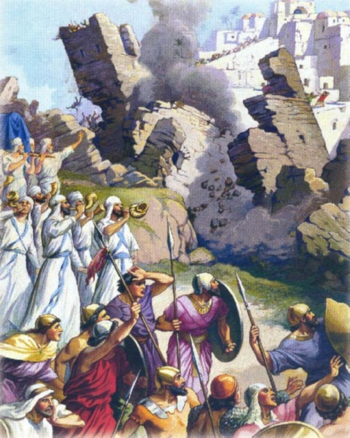 Biblical depiction of the fall of Jericho. (Otto Semler, CC BY SA 2.0)