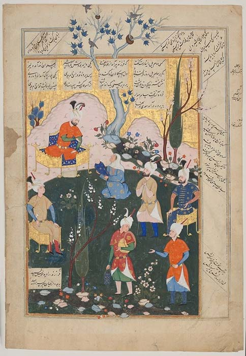 Birth of Zal, from Shahnameh (Book of Kings) (Metropolitan Museum of Arts) (Public Domain)