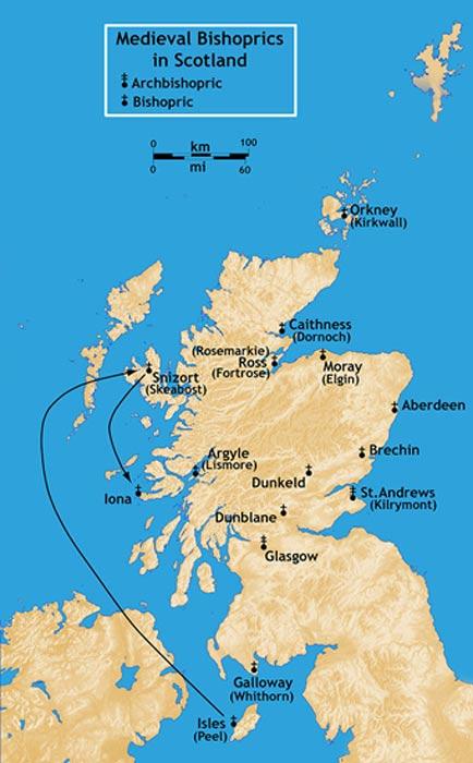 Bishoprics in Medieval Scotland