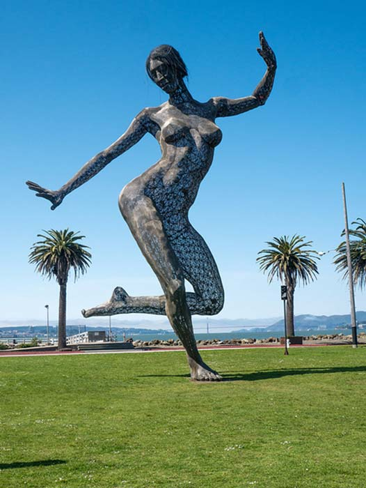 'Bliss Dance' sculpture by Marco Cochrane, Treasure Island 2011-2015.