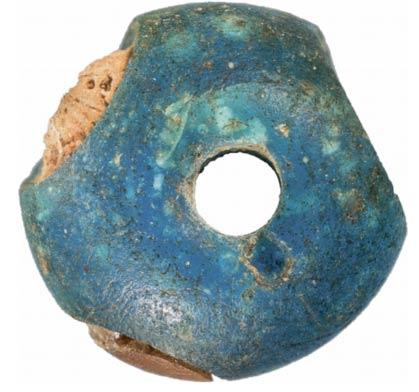 Blue bead found in Denmark