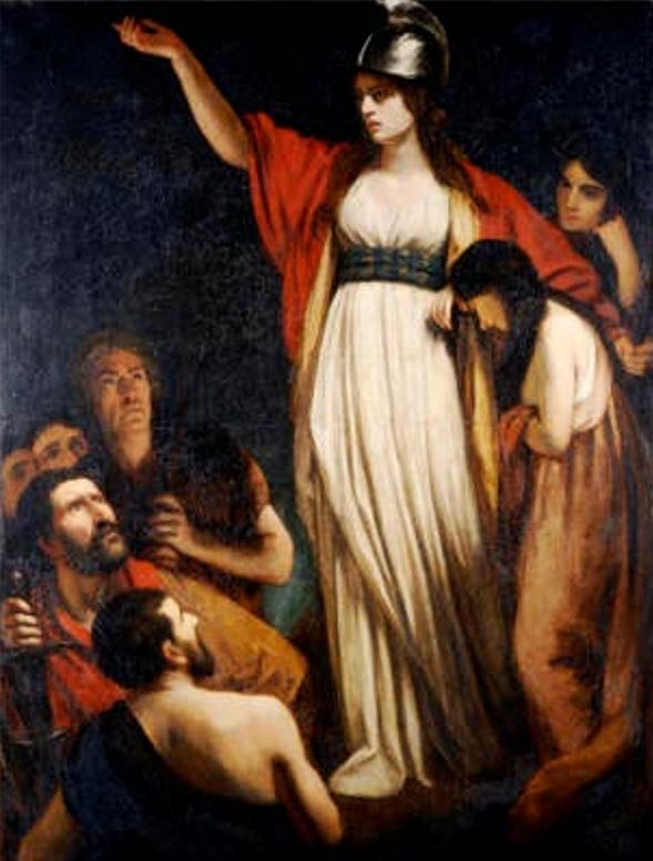 Boudicca Haranguing the Britons' by John Opie.