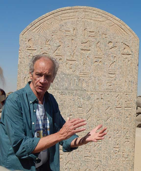 Bob Brier in Egypt. Photo Credit: Sharon Janet Hague
