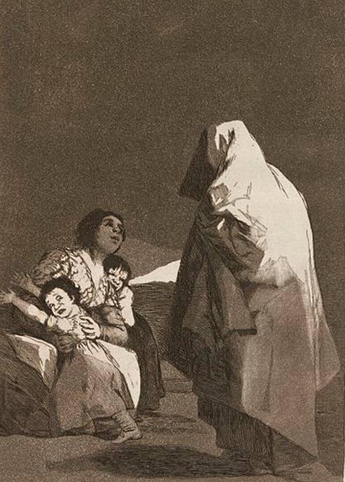 Que viene el coco (Here Comes the Bogey-Man (1799) by Francisco Goya.