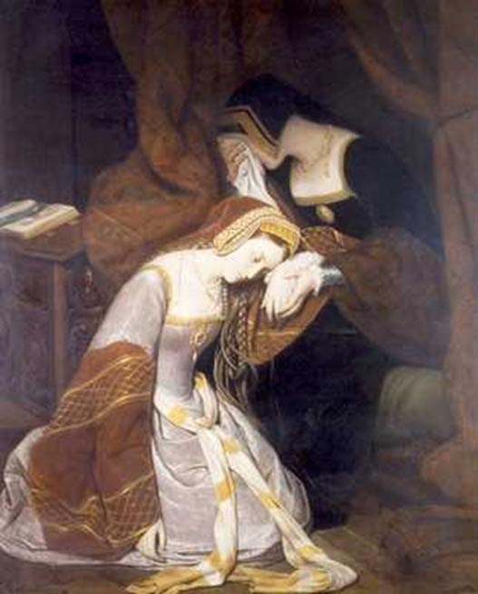 Anne Boleyn in the Tower. (1835)