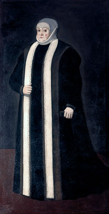 Bona Sforza as a widow in 1551.