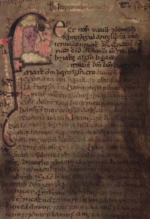 Folio 53 from the Book of Leinster. Lebor Gabála Érenn is recorded in more than a dozen medieval manuscripts and the Book of Leinster is just one of the primary sources of text. Image: Dublin, TCD, MS 1339