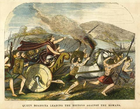 Boudicca led her people in a revolt against the Romans in Camulodunum
