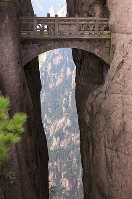 Bridge of Immortals, also known as Fairyland Bridge, Huangshan, Anhui, China.